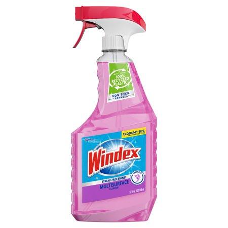 Windex Multi-Surface Cleaner Trigger Bottle, Lavender, 32 fl oz