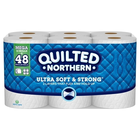 Quilted Northern Ultra Soft & Strong Toilet Paper, 12 Mega Rolls (= 48 Regular Rolls) - Toilet Paper Crafts Halloween