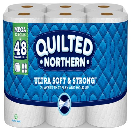 Quilted Northern Ultra Soft & Strong Toilet Paper, 12 Mega (Interleaved Rolls)