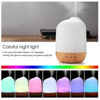 EECOO Oil Aroma Diffuser Humidifier,300ml Super Quite Aromatherapy Humidifier Oil Aroma Diffuser with Colorful Lights US Plug