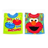 Sesame Street Towel Bibs, Pack of 2