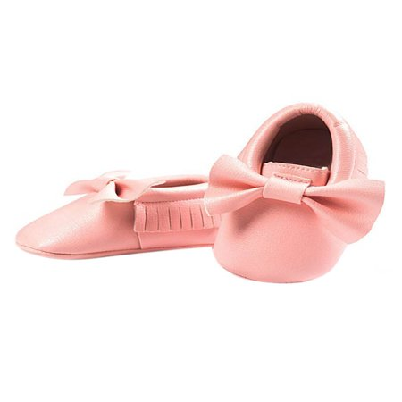 BOBORA Newborn Baby Soft Sole Leather Crib Shoes Anti-slip Prewalker 0-18 Months (Soft Leather Footwear)