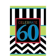 Chevron Mix 60th Birthday Table Cover Each