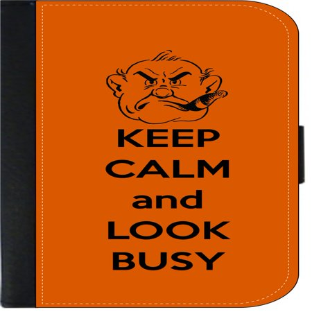 Keep Calm and Look Busy - Wallet Flip Style Phone Case Compatible with the Apple iPhone X / Apple iPhone 10 Universal