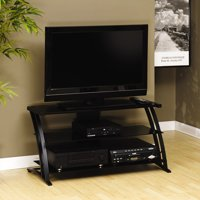 """Sauder Black TV Stand for TVs with bases up to 39"""""""