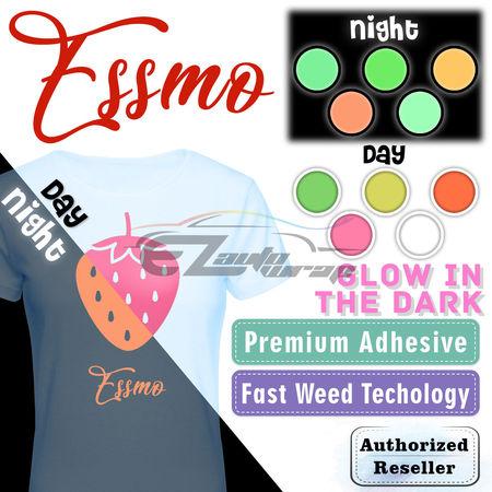 ESSMO™ Glow in The Dark Orange Transfer Vinyl HTV T-Shirt 20