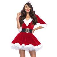 Leg Avenue Women's Mrs. Claus 2-Piece Santa Christmas Costume