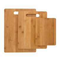 3 Piece Bamboo Cutting Board Set, Food Prep by Classic Cuisine