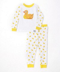 Baby Boy or Girl Unisex Duck Tight Fit Pajamas 2pc Set