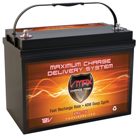 - VMAX XTR31-135 for Yamaha power boats group 31 marine deep cycle AGM 12V battery