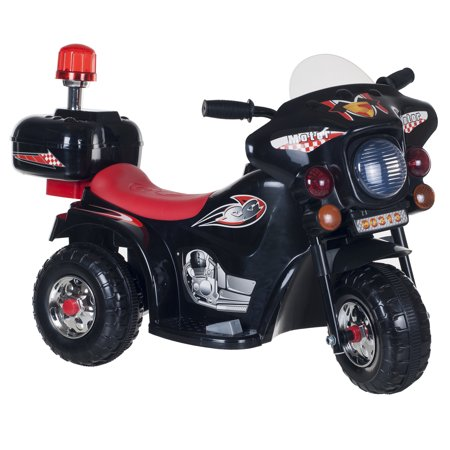 Ride on Toy, 3 Wheel Motorcycle for Kids, Battery Powered Ride On Toy by Hey! Play! – Ride on Toys for Boys and Girls, Toddler - 4 Year Old, Black