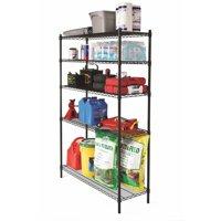 "Hyper Tough 48""W x 16""D x 72""H 5 Shelf Heavy Duty Wire Shelving Storage Rack, Black"