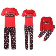 Christmas Family Matching Pajamas Sets SANTA SQUAD Printing Father Mother Kids  Sleepwear ec2363859