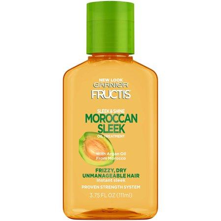 Garnier Fructis Sleek & Shine Moroccan Sleek Oil Treatment, 3.75 fl. (Hot Oil Treatment Damaged Hair)