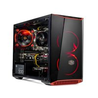 SkyTech Gaming Shadow Mini AMD Ryzen 2600 3.4 GHz, RADEON RX580 4GB, 8GB DDR4 2400 MEMORY, 500 GB SSD w/ 3D NAND, 500 Watts, Windows 10 Home 64-bit, RED