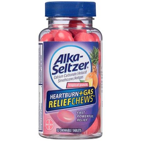 Alka-Seltzer Heartburn + Gas Relief Chews Tropical Punch, 32 - Heartburn Relief