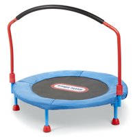 Little Tikes Easy Store 3-Foot Trampoline, with Hand Rail, Blue
