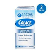 (2 Pack) Colace Docusate Sodium Stool Softener 100mg, 60 capsules