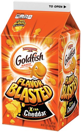 Pepperidge Farm Goldfish Flavor Blasted Xtra Cheddar Crackers, 30 oz.