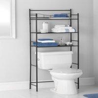 Mainstays 3-Shelf Bathroom Space Saver, Oil-Rubbed Bronze/Black Finish