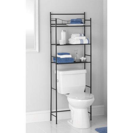 Mainstays 3-Shelf Bathroom Space Saver, Oil-Rubbed Bronze/Black ...