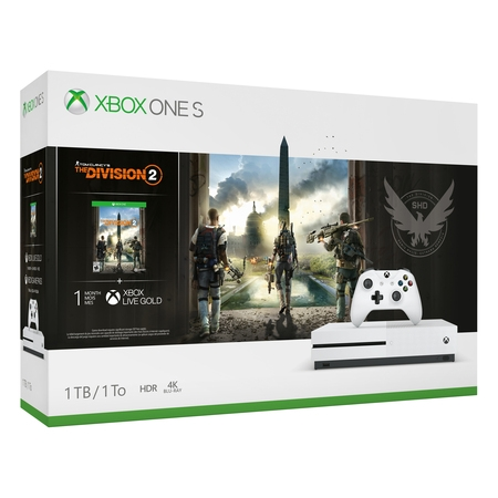 Microsoft Xbox One S 1TB Tom Clancy's The Division 2 Bundle, White, 234-00872](xbox one s cheapest price)