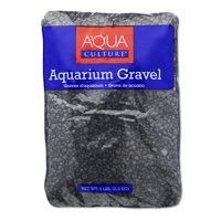 (2 Pack) Aqua Culture Aquarium Gravel, Black, 5-Pound