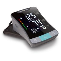 Digital Blood Pressure Monitor with Standard and Large Cuffs, Automatic High Blood Pressure Machine, Upper Arm Blood Pressure Monitor, Talking, Black