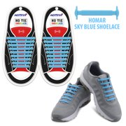 158bc68b8bf0 Homar No Tie Elastic Shoelaces for Athletes Adults- Best in Sports Fan  Shoelaces - Rubber