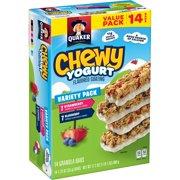 Quaker Chewy Yogurt Granola Bars, Variety Pack, 14 Count
