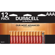 Duracell Quantum Alkaline AAA Batteries with PowerCheck 12 Pack