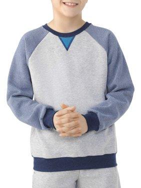 Boys' Explorer Fleece Super Soft Raglan Crew Neck Sweatshirt