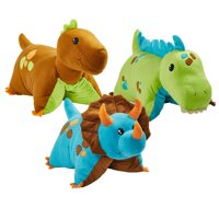 Dinosaur Pillow Pets Combo Pack - Blue, Green and Brown Dinosaurs