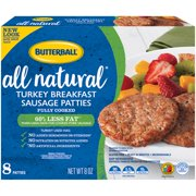 Butterball Natural Inspirations Turkey Breakfast Sausage Patties, 8 Oz.