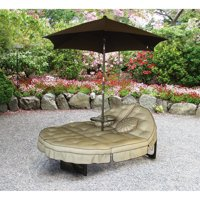 Mainstays Deluxe Orbit Chaise Lounge, Umbrella & Side Table, Seats 2