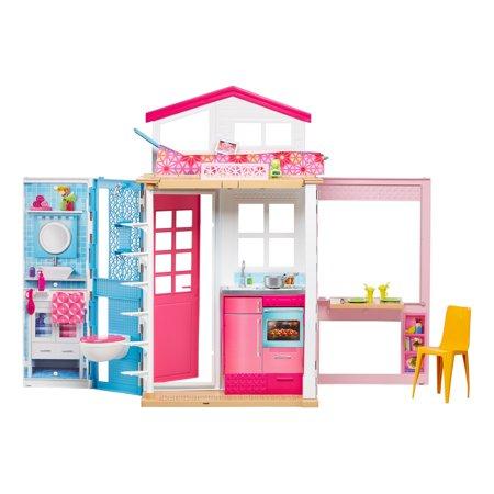Barbie 2 Story House Close And Go Portable Playset Walmart Com