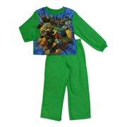 43f090d5f9e7e Teenage Mutant Ninja Turtles Boys Green Fleece Sleepwear TMNT Pajama Set 6-7