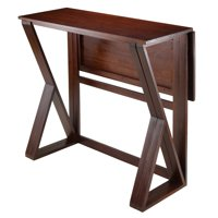 Winsome Wood Harrington Drop Leaf High Table, Walnut