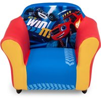 Nick Jr. Blaze and the Monster Machines Kids Upholstered Chair with Sculpted Plastic Frame by Delta Children