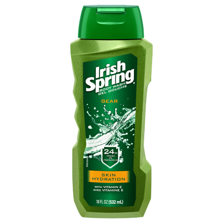 (2 pack) Irish Spring Gear Skin Hydration, Moisturizing Body Wash - 18 fluid ounce