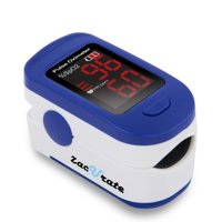 Zacurate® Fingertip Pulse Oximeter Blood Oxygen Saturation Monitor with batteries and lanyard included (Navy Blue)