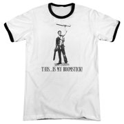 09adc83af MGM/ARMY OF DARKNESS/BOOMSTICK! - ADULT RINGER - WHITE/BLACK -