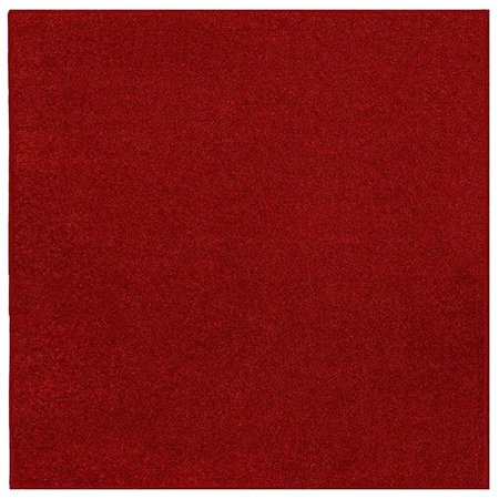 Home Queen Solid Color Area Rugs Red - 2'x6'