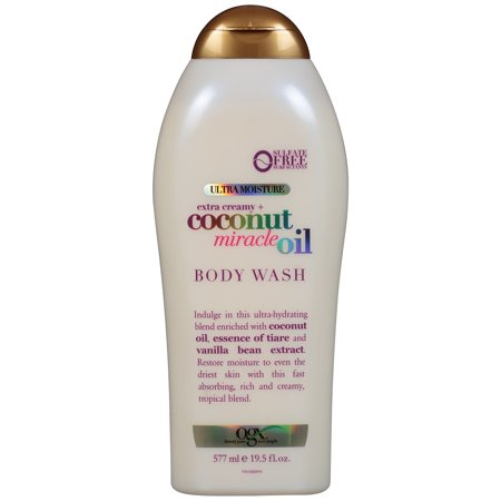 OGX Ultra Moisture Body Wash Extra Creamy + Coconut Miracle Oil, 19.5 fl (Molton Brown Body Wash 10 Fl Oz)