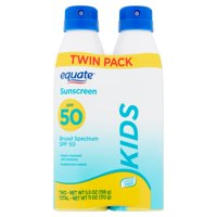Equate Kids Broad Spectrum Sunscreen Spray Twin Pack, SPF 50, 5.5 oz, 2 Count