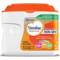 Similac Sensitive Milk-Based Infant Formula with Iron, Powder, 1.41 lb (Pack of 6)