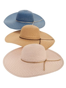 03e93df15da03 Product Image Time and Tru Women s Straw Floppy Hat 3-pack