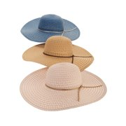 93819aeb0e5 Time and Tru Women s Straw Floppy Hat 3-pack