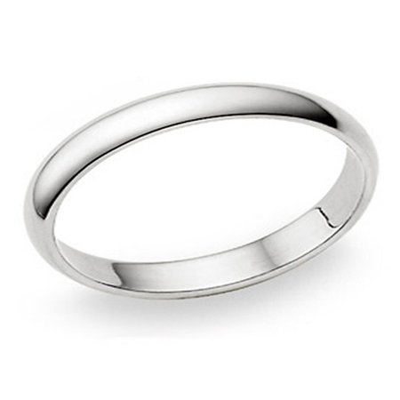4MM Sterling Silver High Polish Plain Dome Tarnish Resistant Comfort Fit Wedding Band Ring Sz 8