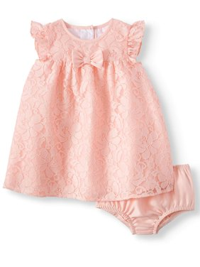 Flutter Sleeve Lace Special Occasion Dress (Baby Girls)